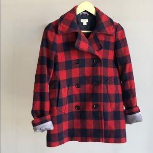 JCrew Plaid Wool Coat
